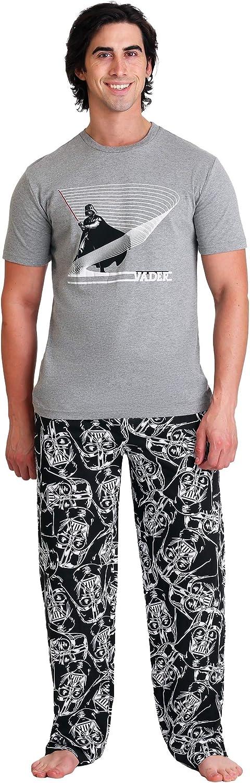 Star Wars Darth Vader Lightsaber Lines Men's 2 Piece Sleep S - XL Gray