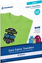 Printworks Dark T-Shirt Transfers for Inkjet Printers, For Use on Dark and Light/White..