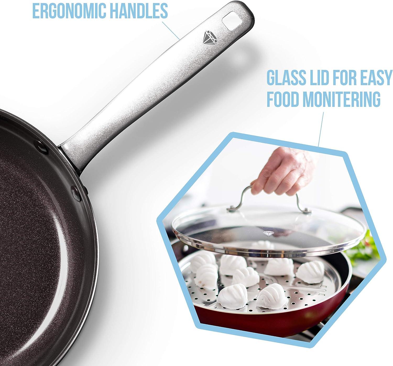 12 Frypan Blue Diamond Cookware CC002532-001 Red Diamond Pan
