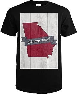 Georgia On My Mind 55477 (Black T-Shirt Large)
