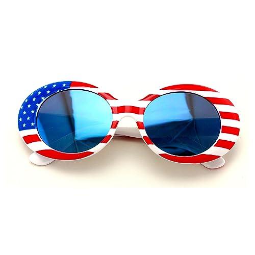 4e0c14244c1f V.W.E. Vintage Sunglasses UV400 Bold Retro Oval Mod Thick Frame Sunglasses  Clout Goggles White USA American