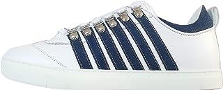 DSQUARED2 Scarpe Uomo Low Top Sneakers 251 SNM0147 01501575 M328 Bianco-Blu