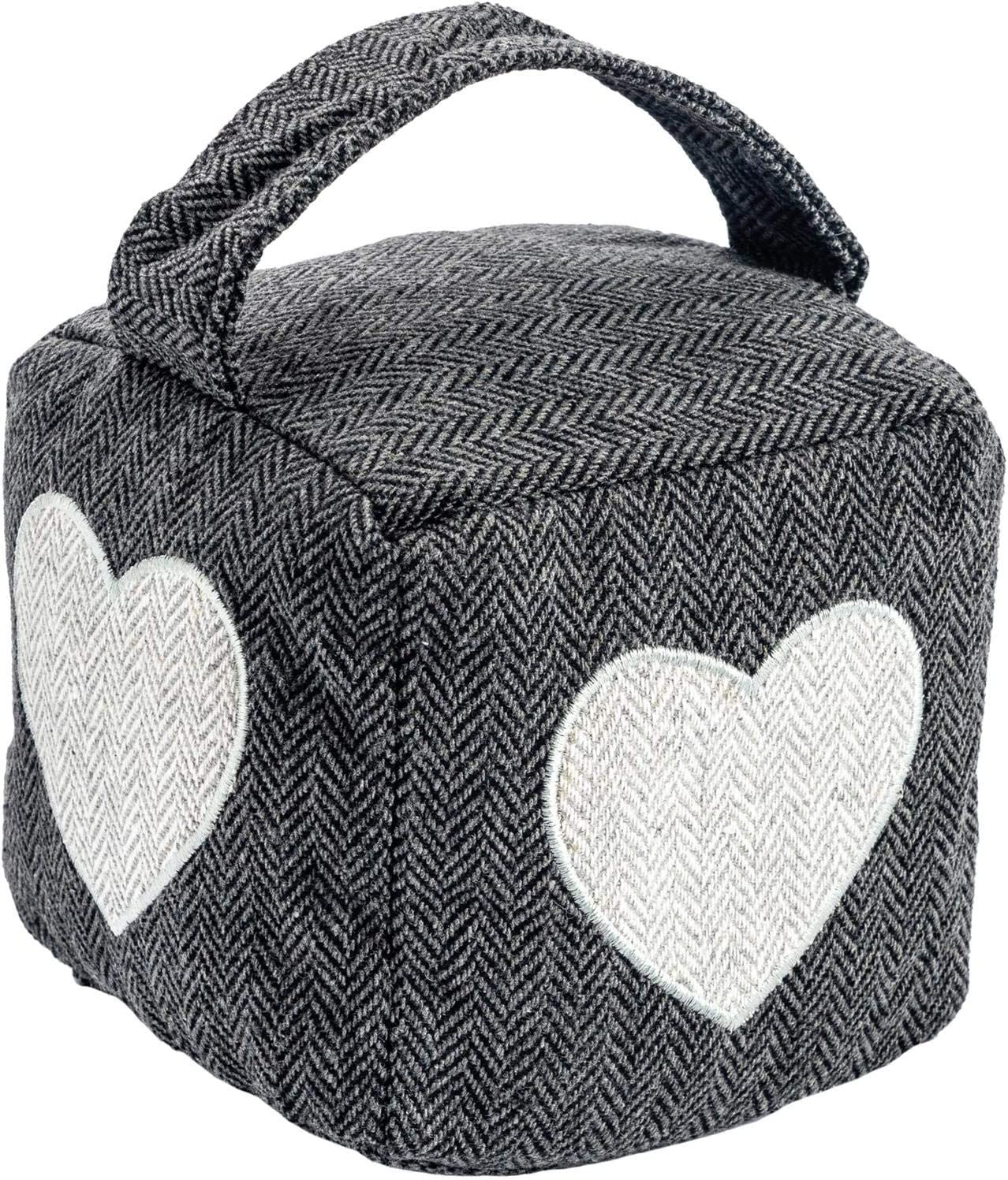 Nicola Spring Home All items in the store Interior Doorstop - Heart Pa Popularity Herringbone Grey