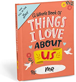 Emily McDowell & Friends About Us Fill in The Love Book Fill-in-The-Blank Gift Journal, 4.10 x 5.40-inches