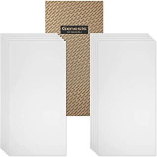 Genesis Easy Installation Smooth Pro Lay-in White Ceiling Tile/Ceiling Panel, (2' x 4' Tile) (Pack of 10)