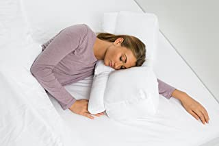 Better Sleep Pillow Goose Down Pillow – Patented Arm-Tunnel Design Improves Hand And Arm Circulation – Neck Pain Relief – Perfect Side and Stomach Sleeper Pillow - Bed Pillow, White