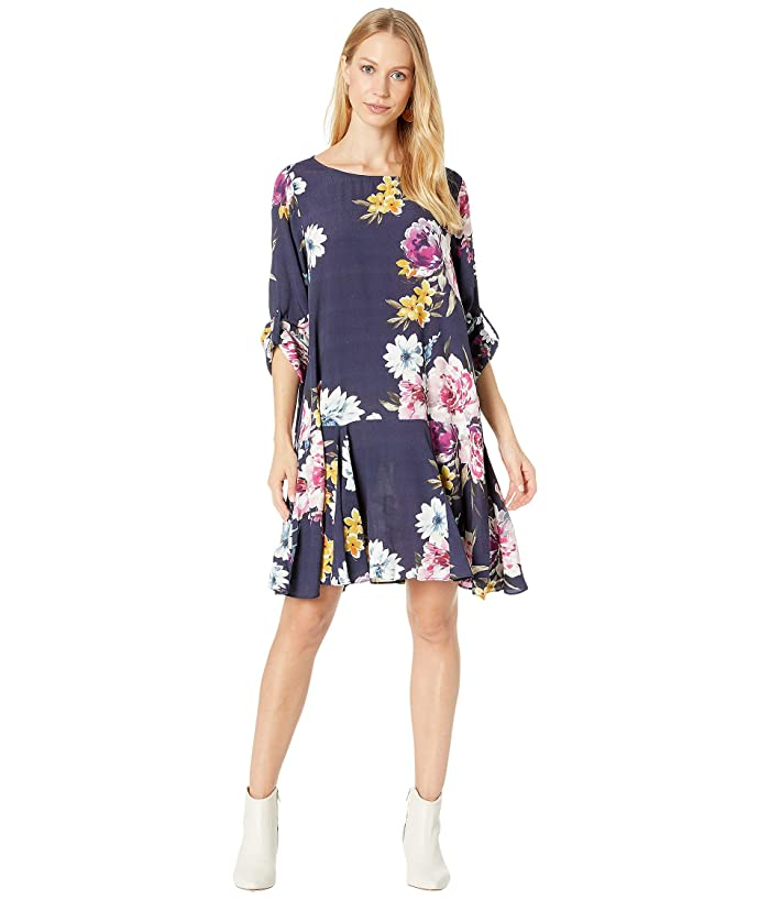 80s Dresses | Casual to Party Dresses Yumi Kim Ootd Dress Sweet Scent Navy Womens Dress $89.10 AT vintagedancer.com