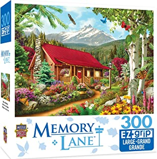 MasterPieces Memory Lane Mountain Hideaway 300 Piece EZ Grip Jigsaw Puzzle