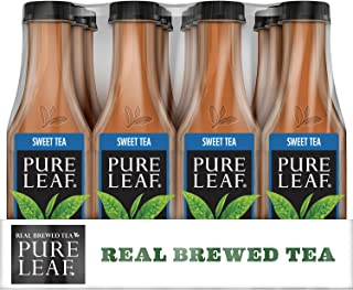 Pure Leaf Iced Tea, Sweet Tea, Real Brewed Black Tea, 18.5 Ounce Bottles (Pack Of 12)