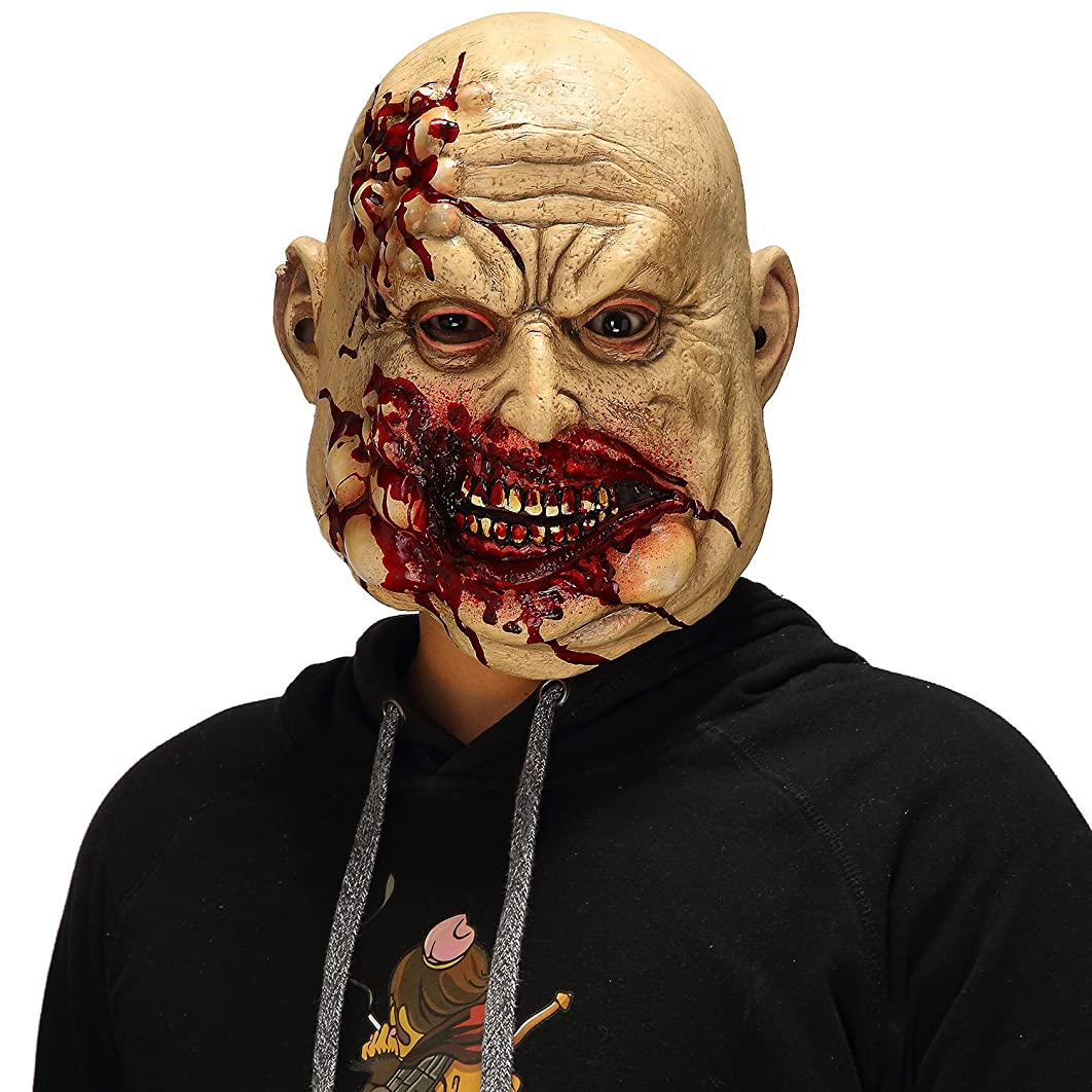 Mo Fang Gong She Scary Halloween The Walking Dead Cosplay Props, Horror Bloody Butcher Mask