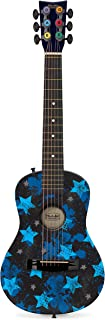 Jazwares First Act Acoustic Guitar - Black with Blue Stars, 1/2, FG1601