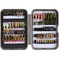 Bassdash Fly Fishing Flies Kit Fly Assortment Trout Bass Fishing with Fly Box,...