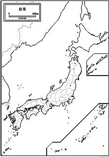 日本地図の白地図 A1サイズ 2枚セット