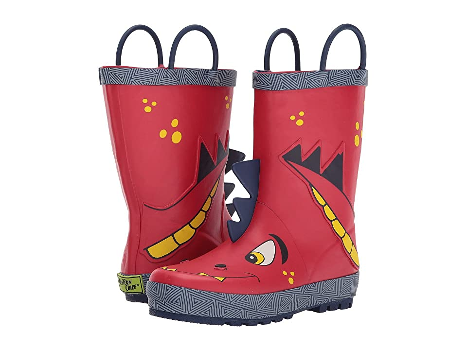 Western Chief Kids Spike Rain Boots (Toddler/Little Kid/Big Kid) (Red) Boys Shoes