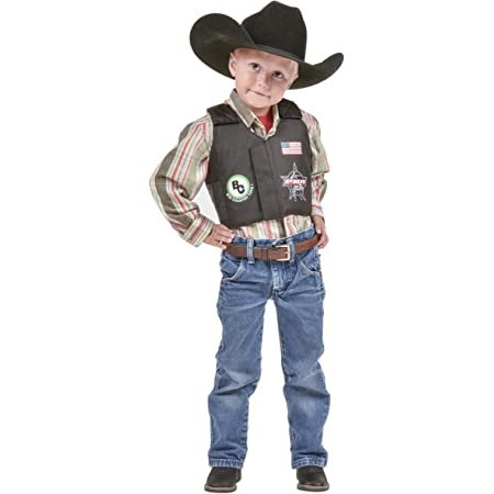 M /& F Western Boys Bigtime Rodeo Chaps Black Small