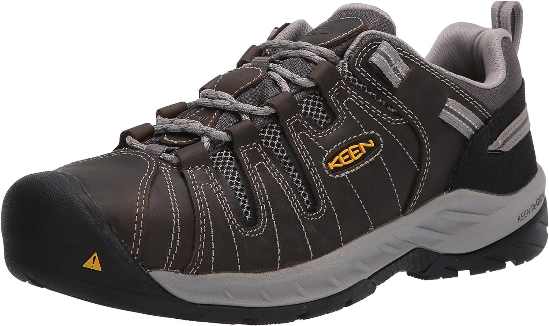 KEEN Utility Men's Flint Attention brand 2 Low Steel Slip Toe Max 61% OFF Work Non Shoe