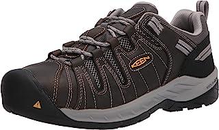 KEEN Utiliy Men's Flint II Low Steel Toe Non Slip Work Shoe Construction Shoe