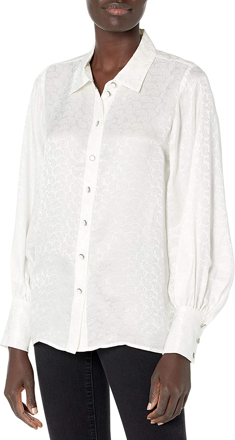 The Kooples Women's Long-Sleeved Button-Down Blouse with a Relaxed Fit