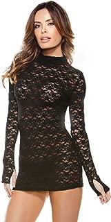 black micro mini dress