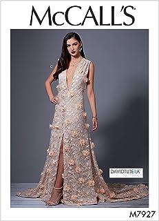 فستان للنساء للمناسبات الخاصة والسهرات من مكول انماط خياطة الفستان من تصميم دايفيد توتيرا، مقاسات 4-12