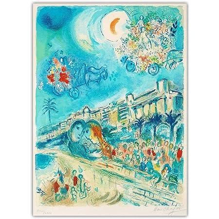 """Kunstkarte Marc Chagall /""""Sonne und Mimosen/"""""""