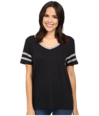 Alternative Varsity Vintage Jersey T-Shirt (Black/Smoke) Women