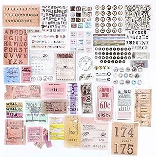 120PCS Autocollants Stickers Etiquettes Adhésif Style Vintage Scrapbooking Album Photo pour Journal plan bricolage artisan...