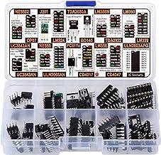 Small IC and Transistor Assortment Box 60 pcs, NE5532, OP07, LM324, TDA2030, LM386, TDA2822, LM393, LM339, UC3842, UC3843,...