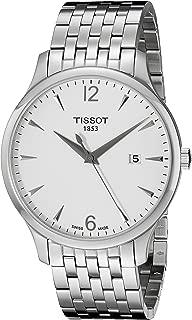 Men's T0636101103700 Tradition Round Silver-Tone Bracelet Watch