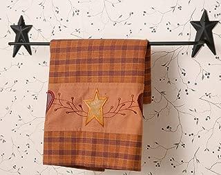 Wrought Iron Star Towel Bar