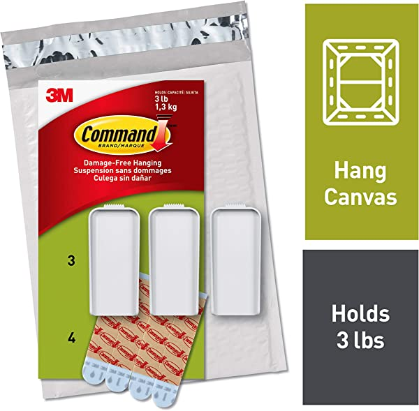 Command Large Canvas Hangers Indoor Use PH044 3NA