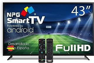 "Televisor NPG LED 43"" Full HD, Smart TV Android + Mando QWERTY/Motion, WiFi, Bluetooth, TDT2 H.265, PVR"