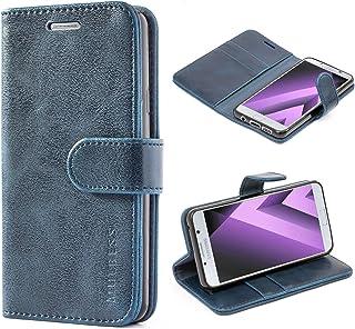 Mulbess Cover per Samsung Galaxy A3 2016, Custodia Pelle con Magnetica per Samsung Galaxy A3 2016 [Vinatge Case], Blu Navy