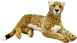 """National Geographics """"SUPER GIANT CHEETAH"""" Stuffed Animals Plush Toy (Natural)"""