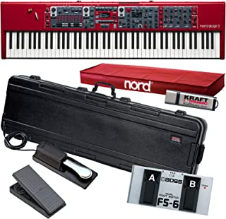 $4799 Get Nord Stage 3 88 Stage Piano with Gator TSA Case, Yamaha FC7 Pedal, Switch, Drive