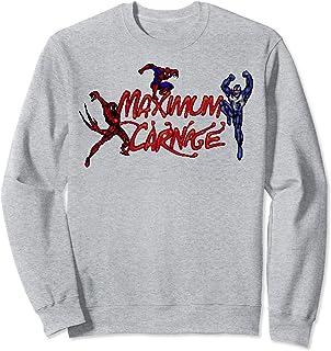 Marvel Spider-Man Maximum Carnage Video Game Collage Logo Sweatshirt