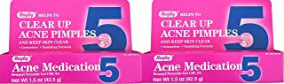Benzoyl Peroxide 5 % Generic for Oxy Balance Acne Medication Gel for Treatment and Prevention of Acne Pimples, Acne Blemishes, Blackheads or Whiteheads. 1.5 oz. per Tube Pack 2 Total 3 oz.