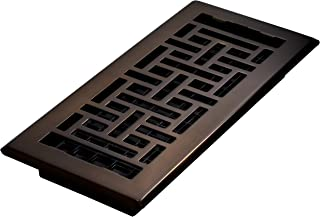 Decor Grates, Rubbed Bronze, AJH410-RB Oriental Floor Register, 4 10-Inch, 4 x 10