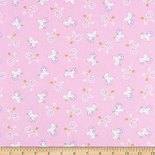 Dear Stella Space Magic Unicorns Bubblegum Fabric by the Yard
