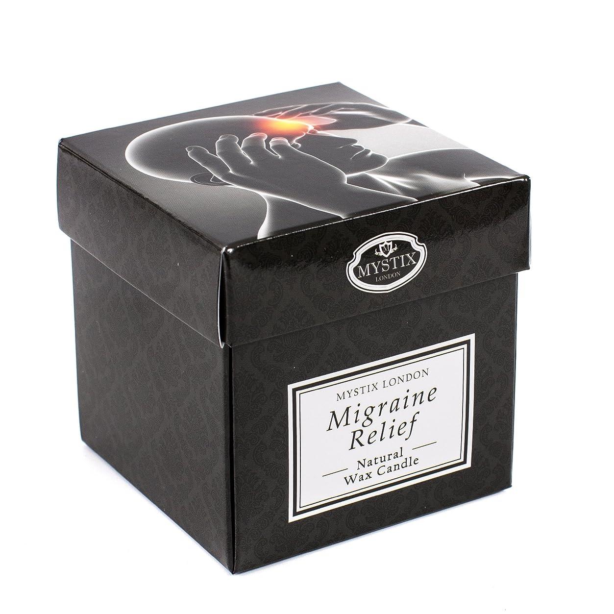 補助武装解除干し草Mystix London   Migraine Relief Scented Candle - Large