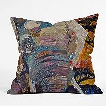 Deny Designs Elizabeth St Hilaire Nelson Elephant Throw Pillow, 20 x 20
