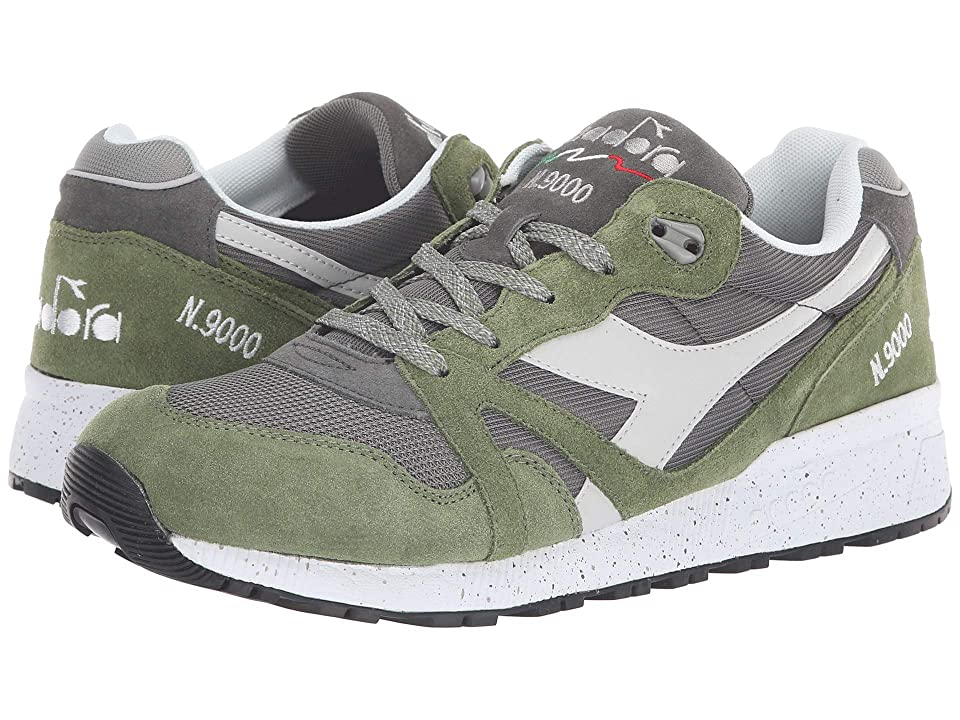 Diadora N9000 Speckled (Gargoyle/Loden Green) Athletic Shoes
