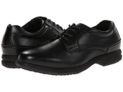 Nunn Bush Sherman Slip Resistant Plain Toe Oxford (Black) Men