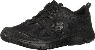 Skechers Women's Sinergy - Fancy Fancy Sneakers (6.5, Black/Black)