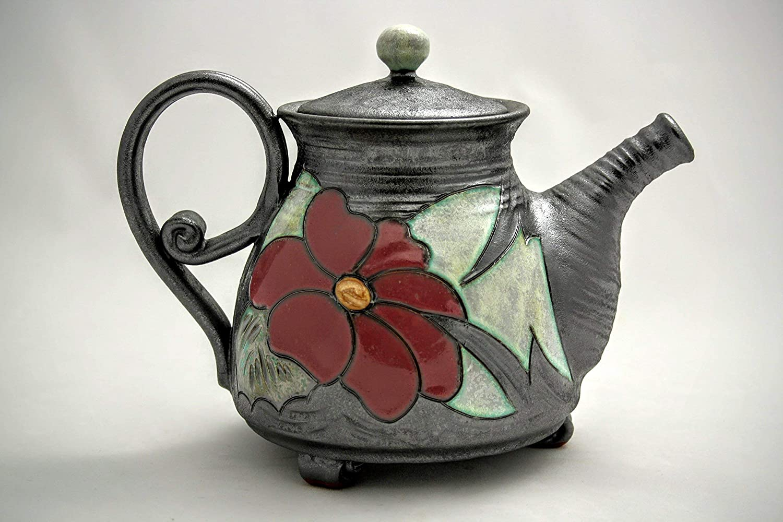 Handmade Ceramic Teapot 27 Max 50% OFF oz Unique pottery Art Special sale item quirky teapot