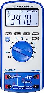 PeakTech 3410 – True RMS Digital Multimeter 6000 Counts mit Durchgangsprüfer, NCV, Temperatur und Autorange   Cat III 1000V/ CAT IV 600V
