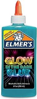 elmers glow in the dark liquid glue 9oz-blue
