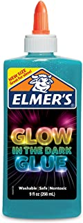 elmers glow in the dark liquid glue 9oz-blue