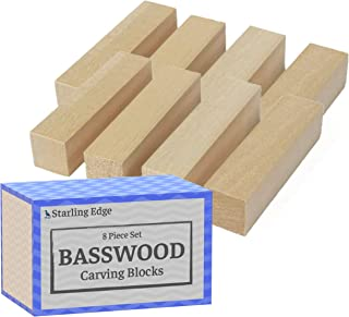 Basswood Blocks for Carving (8 Pieces - 1 1/4