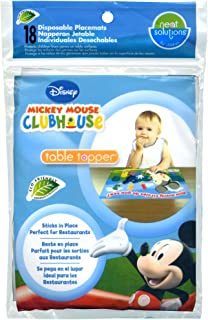 Disney Mickey Mouse Table Topper Disposable Stick-on Placemats in Reusable Package, 12
